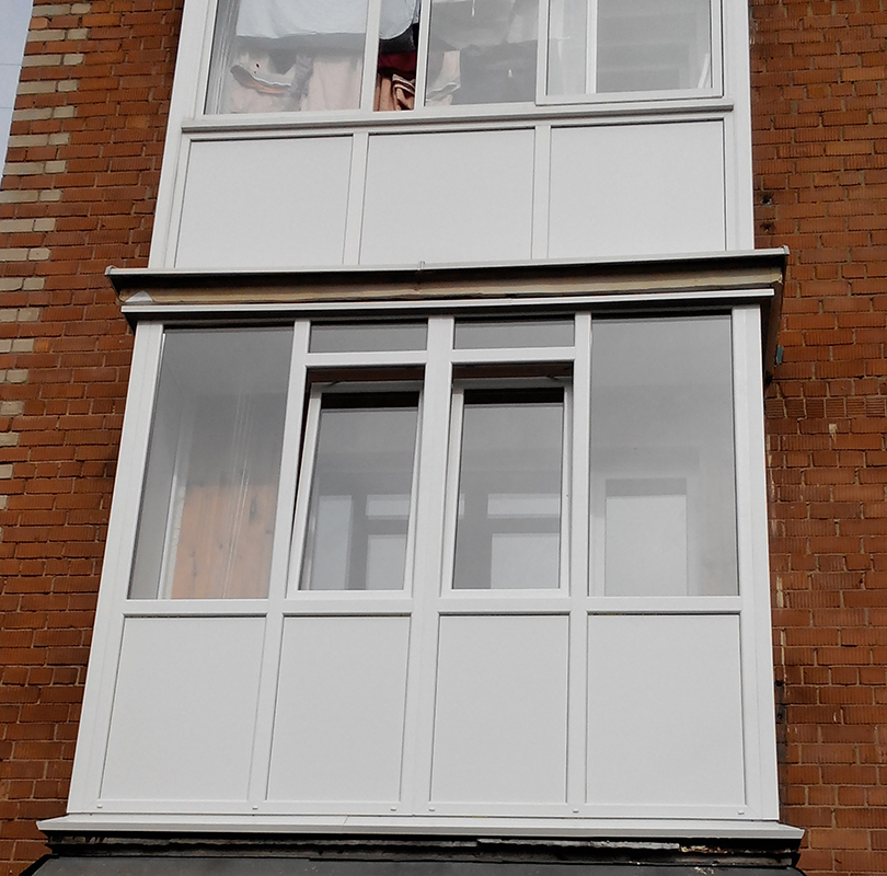 Отделка балкона - двери, окна, сантехника и стройматериалы -.